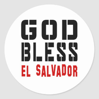 God Bless El Salvador Round Sticker