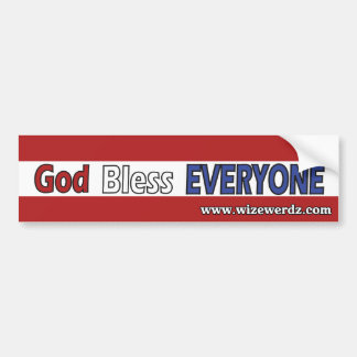 God Bless Everyone Bumper Sticker