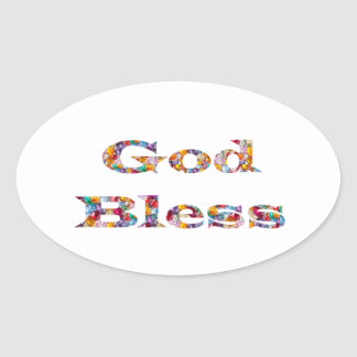 GOD Bless -  Ideal GIFT for all occasions Oval Sticker