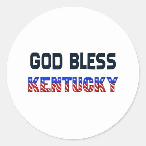 God Bless Kentucky Round Sticker