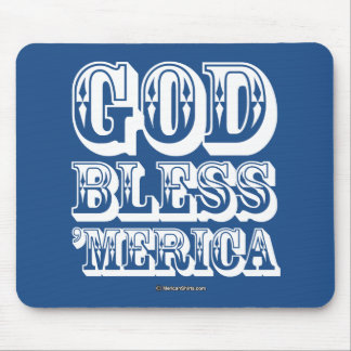 God Bless 'Merica - Western Style Mouse Pad