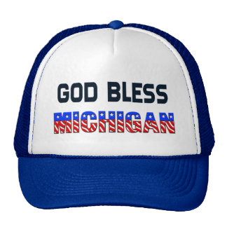 God Bless Michigan Cap