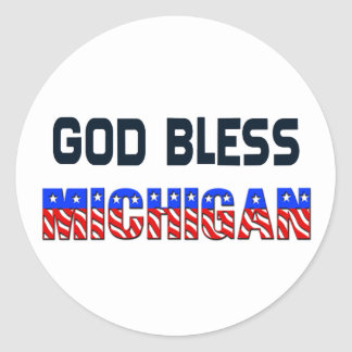 God Bless Michigan Sticker