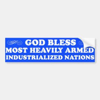 God Bless...Nations Bumper Sticker