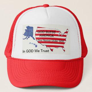 GOD Bless...One Nation...We Trust Trucker's Hat