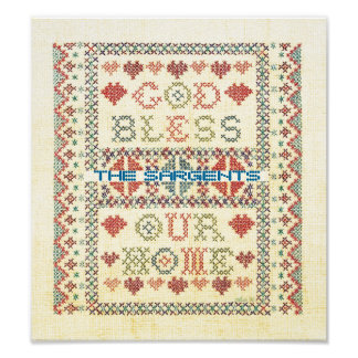 God Bless Our Home Poster