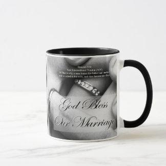 God bless our marriage mug