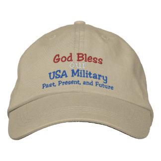 God Bless our Military Cap - by SRF Baseball Cap