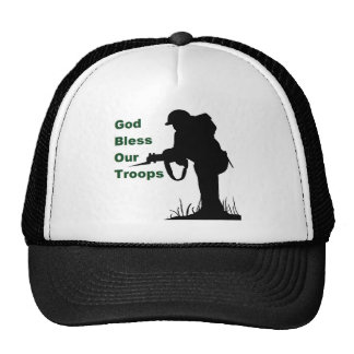God Bless Our Troops Cap