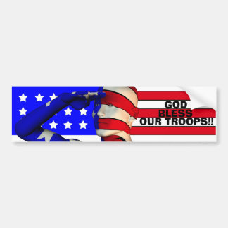 GOD BLESS OUR TROOPS!!... Religious bumperstickers Bumper Sticker