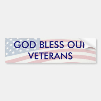GOD BLESS OUR VETERANS BUMPER STICKER