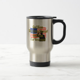 GOD BLESS OUR VETERANS TRAVEL MUG