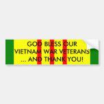 GOD BLESS OUR VIETNAM WAR VETERANS... BUMPER STICKERS