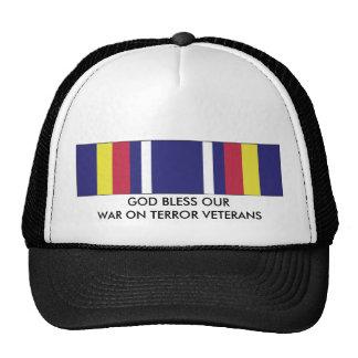 GOD BLESS OUR WAR ON TERRORISM VETERANS TRUCKER HAT