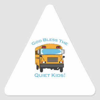 GOD BLESS QUIET KIDS TRIANGLE STICKERS