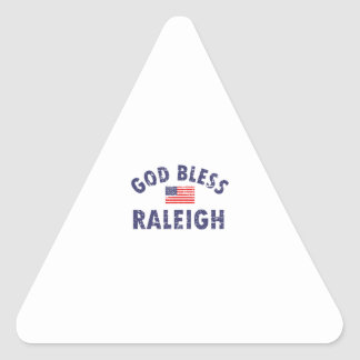God bless RALEIGH designs Triangle Sticker