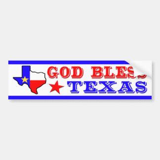 God Bless Texas Bumper Sticker
