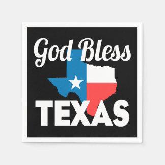 God Bless Texas Disposable Serviette