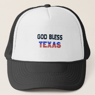 God Bless Texas Trucker Hat