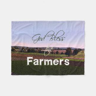 God Bless the Farmers Blanket