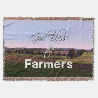 God Bless the Farmers Throw Blanket