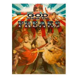 God Bless the Freaks 2 Postcard