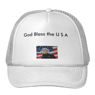 God Bless the U S A hat