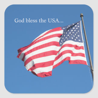 God Bless the USA… Square Sticker