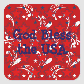 God Bless the USA Sticker