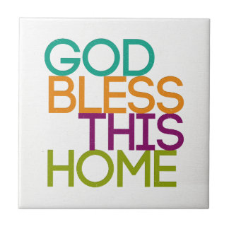 God Bless This Home Small Square Tile
