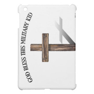 GOD BLESS THIS MILITARY KID with rugged cross iPad Mini Covers