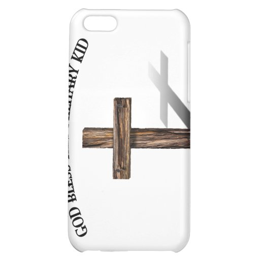 GOD BLESS THIS MILITARY KID with rugged cross Case For iPhone 5C