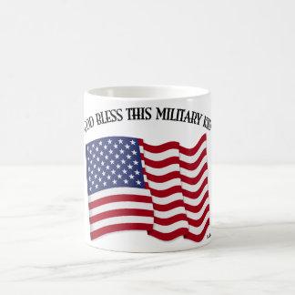 GOD BLESS THIS MILITARY KID with US flag Basic White Mug