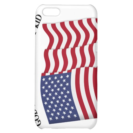 GOD BLESS THIS MILITARY KID with US flag Cover For iPhone 5C