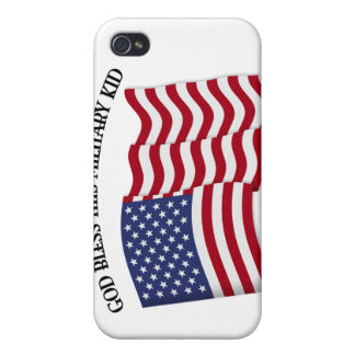 GOD BLESS THIS MILITARY KID with US flag Case For iPhone 4