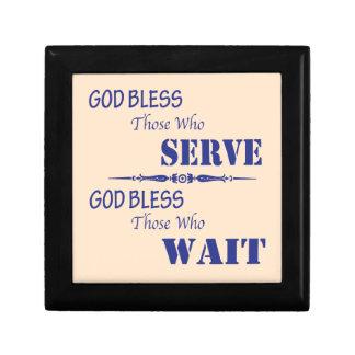 God Bless Those Who Serve and Those Who Wait Gift Box