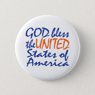 GOD BLESS UNITED STATES BUTTON