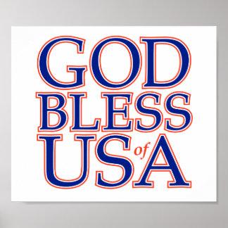 GOD BLESS USA POSTER