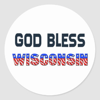 God Bless Wisconsin Stickers