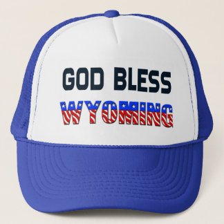 God Bless Wyoming Trucker Hat
