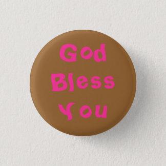 God Bless You 3 Cm Round Badge