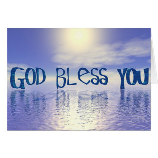 God Bless You. Card