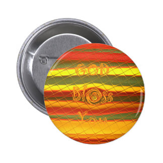 God Bless You Colors Design 6 Cm Round Badge