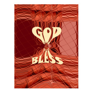 God Bless You Golden  kenya  Hakuna Matata Giraffe Postcard
