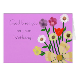 God bless you on your birthday Card