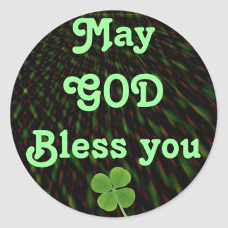 GOD Bless you stickers Round Sticker