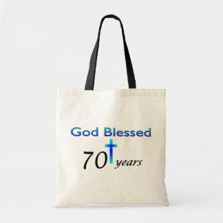 God Blessed 70 years birthday gift Bag