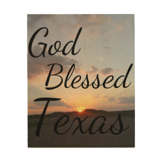 God Blessed Texas Wood Canvases
