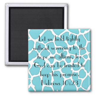 God can be trusted bible verse magnet