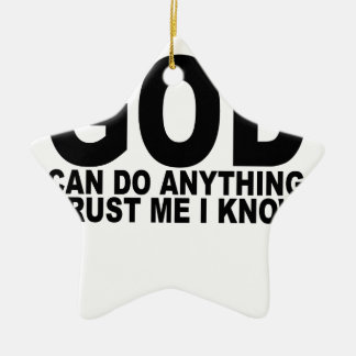 God Can Do Anything T-Shirts png Ornaments